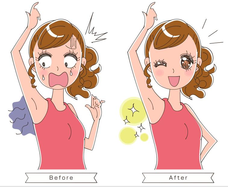 汗臭い女性の体臭対策